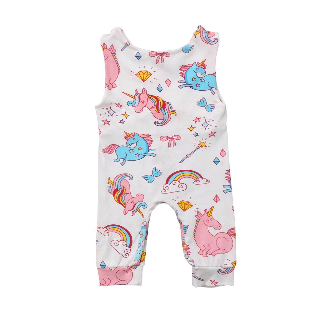 47c04c4d8d80 HOT SALE ~ Newborn Toddler Baby Girl Boy Unicorn Romper Clothes ...