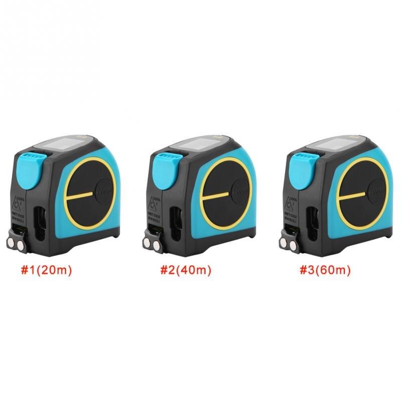DT10 2 in 1 USB Charging Tape Measure 5m LCD Digital Laser Range Finder 20 40