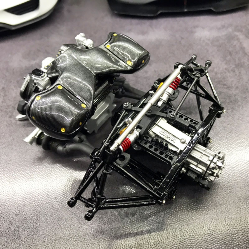 AS Series 1:18 Konica Seger Agera RS Engine Model Assembling