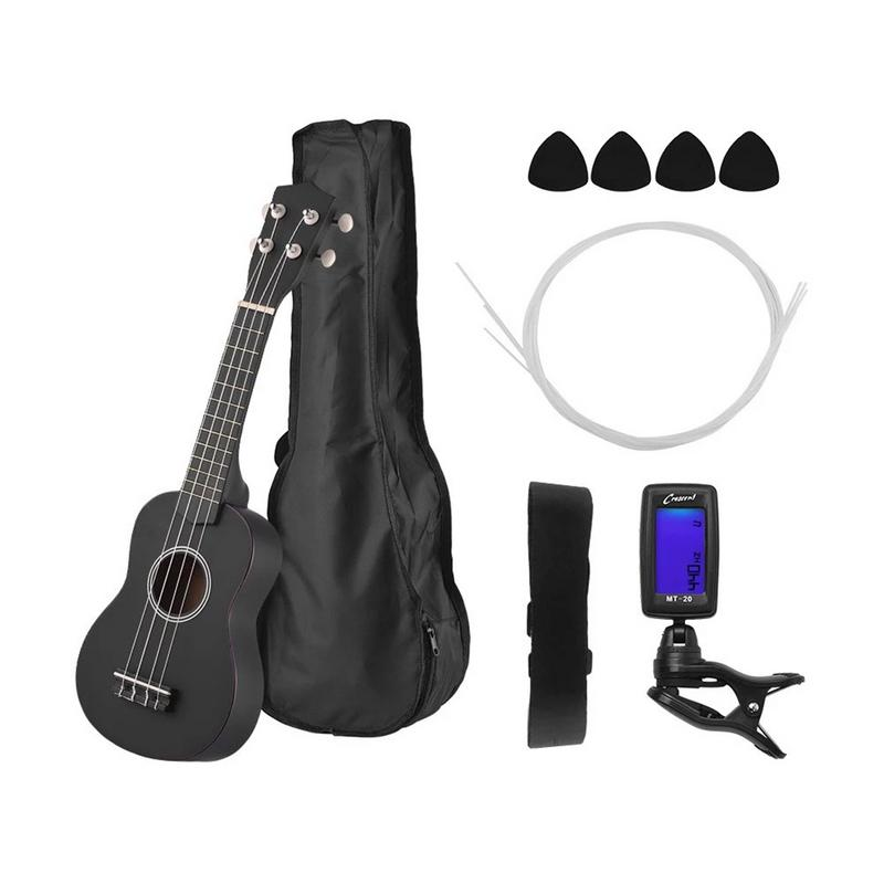Hot 6PCS/Set 21-inch Acoustic Ukulele Musical Performance Props Musical Instrument Set(China)