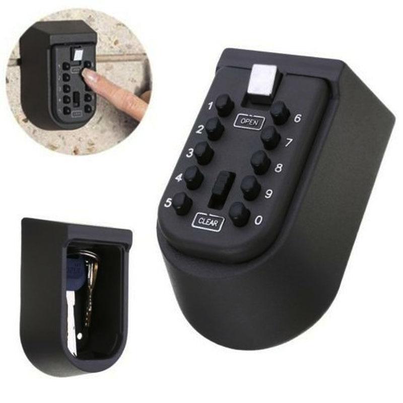 Wall-mounted Key Password Lock Safe Box Password Security Key Box Security Password Metal Security Family Key Hidden DHZ019