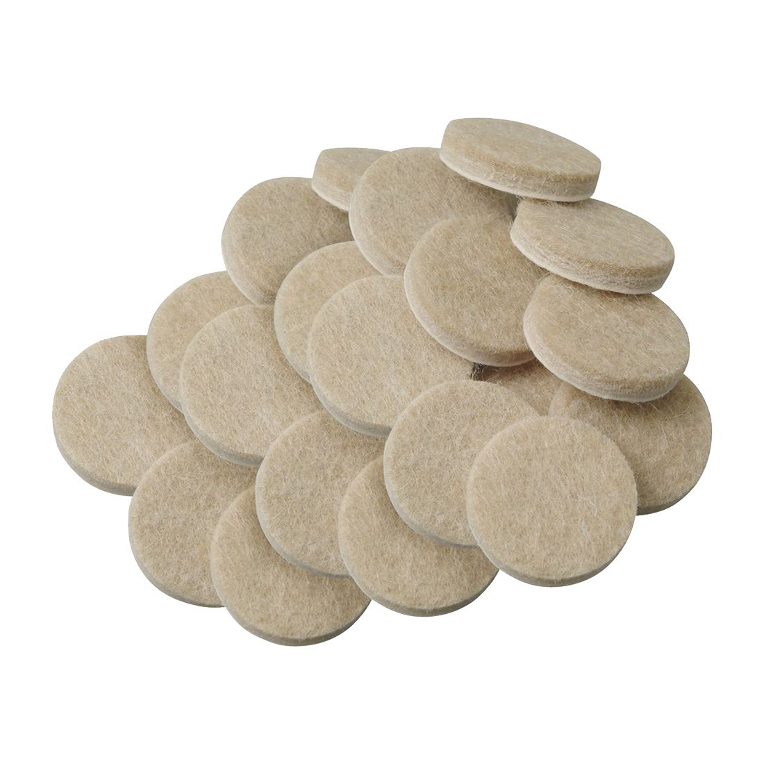 Promotion! 20pcs Self-Stick 3/4 Inch Furniture Felt Pads For Hard Surfaces - Oatmeal, Round