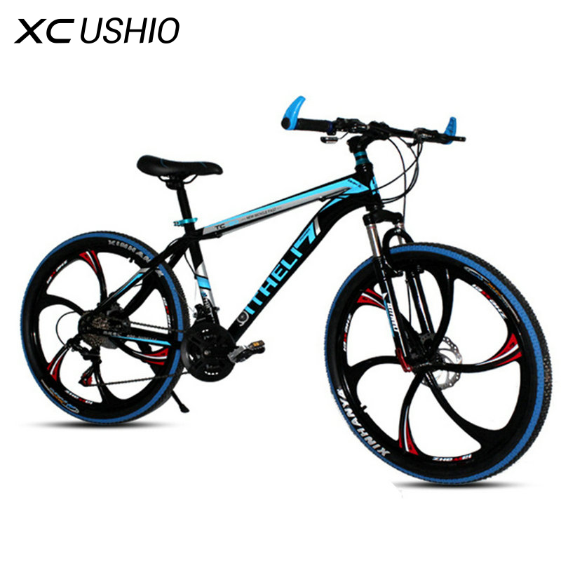 MTB Bike Bicycle 26 Inch 18 21 Speed Double Disc Brake One Wheel Variable Speed Bicycle