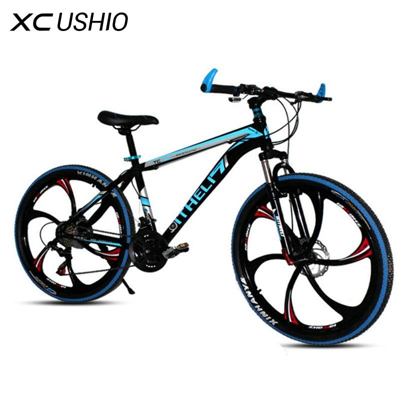 MTB Bike Bicycle 26 Inch 18 21 Speed Double Disc Brake One Wheel Variable Speed Bicycle Carbon Steel V brake Bike bicicleta Sale