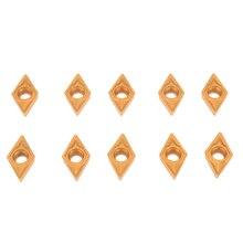 10 шт. DCMT070204 US735 DCMT21.51 лезвия из карбида золота вставки для токарного станка токарный инструмент сверлильный брусок