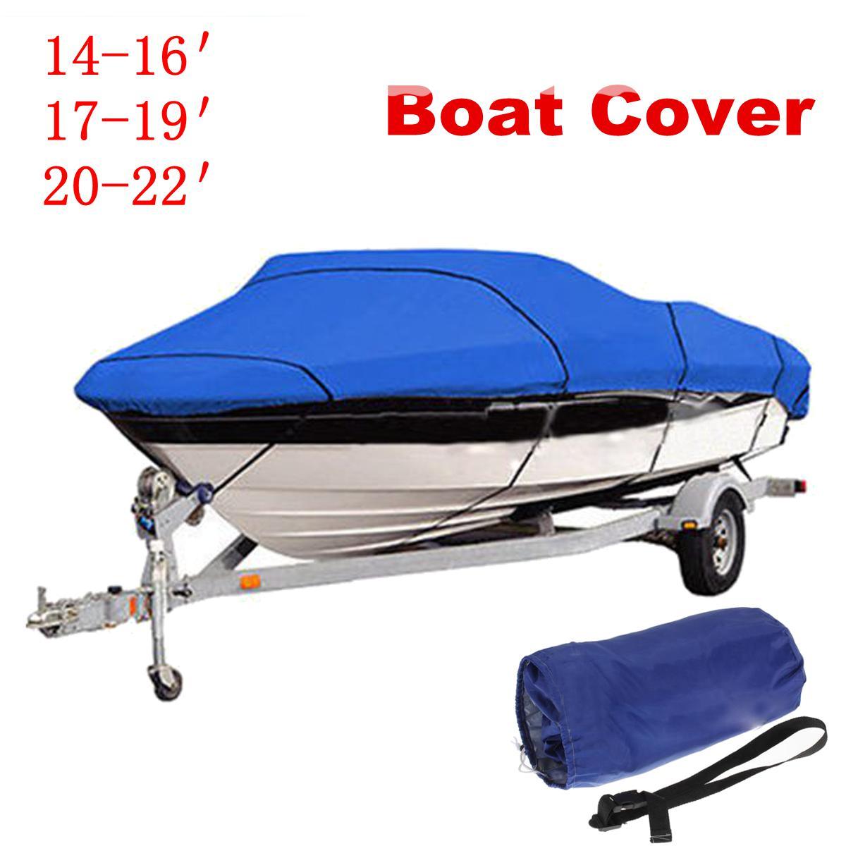 11-13 14-16 17-19 20-22ft Trailerable Fishing Ski Bass Boat Cover Waterproof US