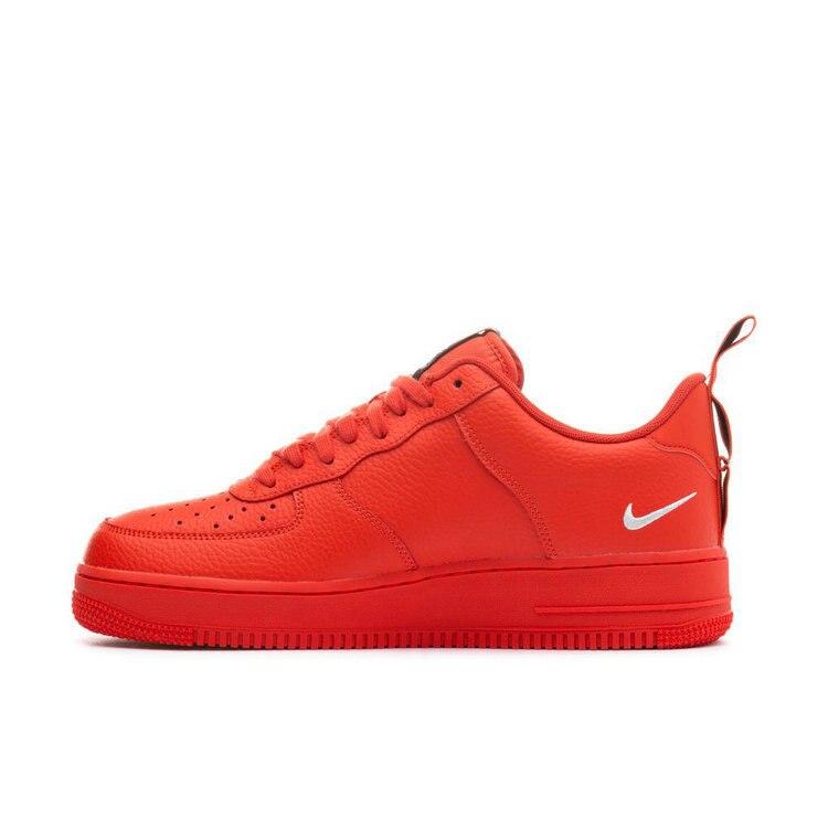 c4519386 Nike Air Force 1 AF1 Для мужчин Скейтбординг обувь ярко-красные демонтажа  простая версия Для Досуга кроссовки # AJ7747-800