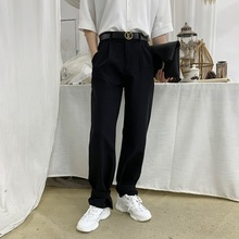Mens Trousers 19 Seasons Apply For New Loose Wild Black Casual Wide Leg Straight Youth Clothing