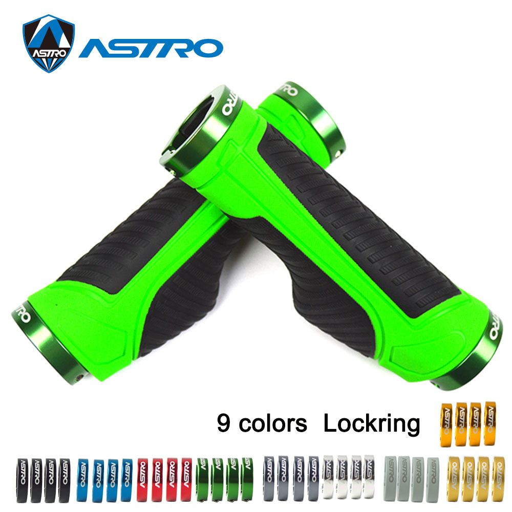 Astro Mtb Handlebar Grips Bicycle Lock-on Bar End Grip Rubber Shockproof For Road Mountain Bike Fixed Design Bike Parts