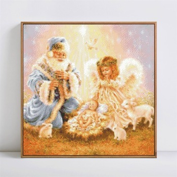 HUACAN Diamond Painting 5D DIY Diamond Embroidery Angel Full Square Religion Home Decor Mosaic Picture