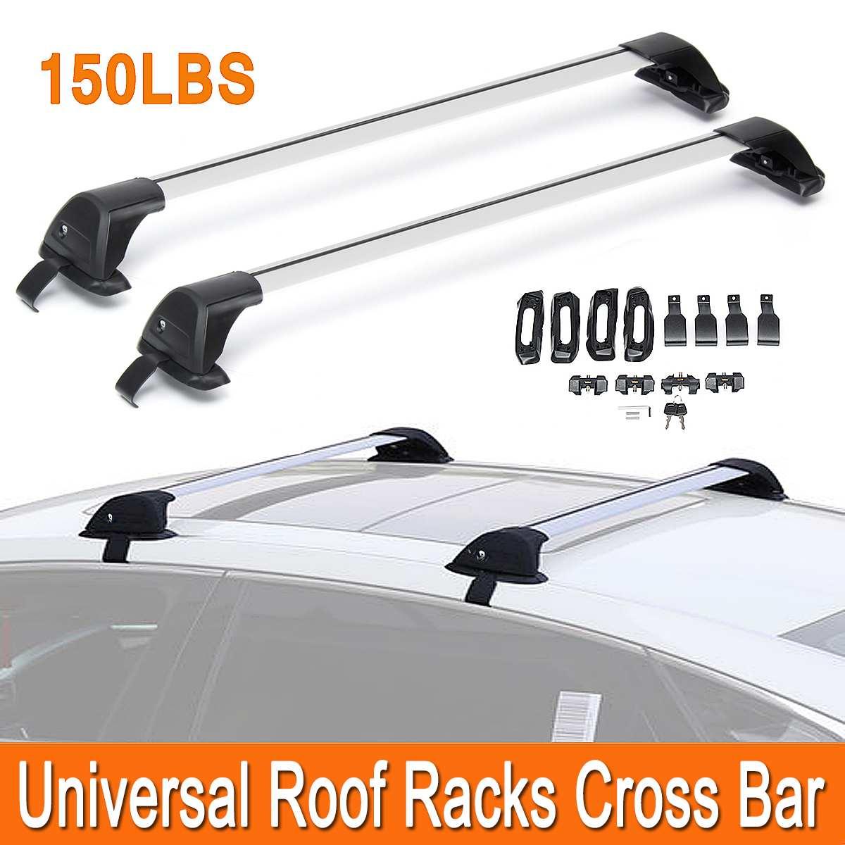 Aluminum Universal 48 Inch Adjustable Roof Rack Cross Bar Carrier 120CM