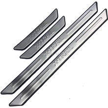 Stainless Steel Scuff Plate Door Sill for 2008-2012 2013 Nissan X-Trail X Trail XTrail T31 Welcome Pedal Car Styling Accessories stainless steel inner door sill scuff plate for 2008 2012 2013 nissan x trail x trail welcome pedal threshold car accessories