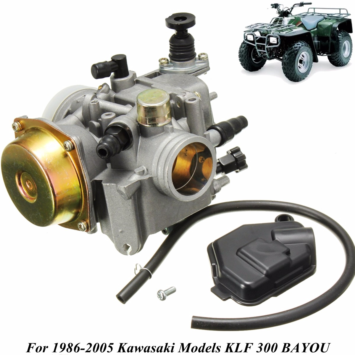 ZZP-K300343-05 4 Stroke Carburetor Carb For Kawasaki KLF 300 BAYOU ATV 1986-2005 15 x 12 x 11cmZZP-K300343-05 4 Stroke Carburetor Carb For Kawasaki KLF 300 BAYOU ATV 1986-2005 15 x 12 x 11cm
