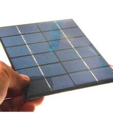 2 шт 0,6 Вт 5,5 В солнечная батарея поликристаллическая солнечная панель DIY Солнечная игрушка Панель зарядное устройство с 15 см кабель провод светодиодный светильник 65*65*3 мм