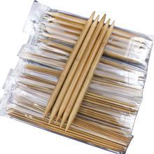 75 шт./компл. с двойным бамбуковый вязальный крючок 15 Размеры 20 см из бамбука Вязание иглы Ремесло вязать инструменты, свитер, вязаный, инструмент для плетения набор
