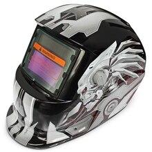 Солнечная энергия автоматический сменный свет электрический сварочный защитный шлем с героем персонажа
