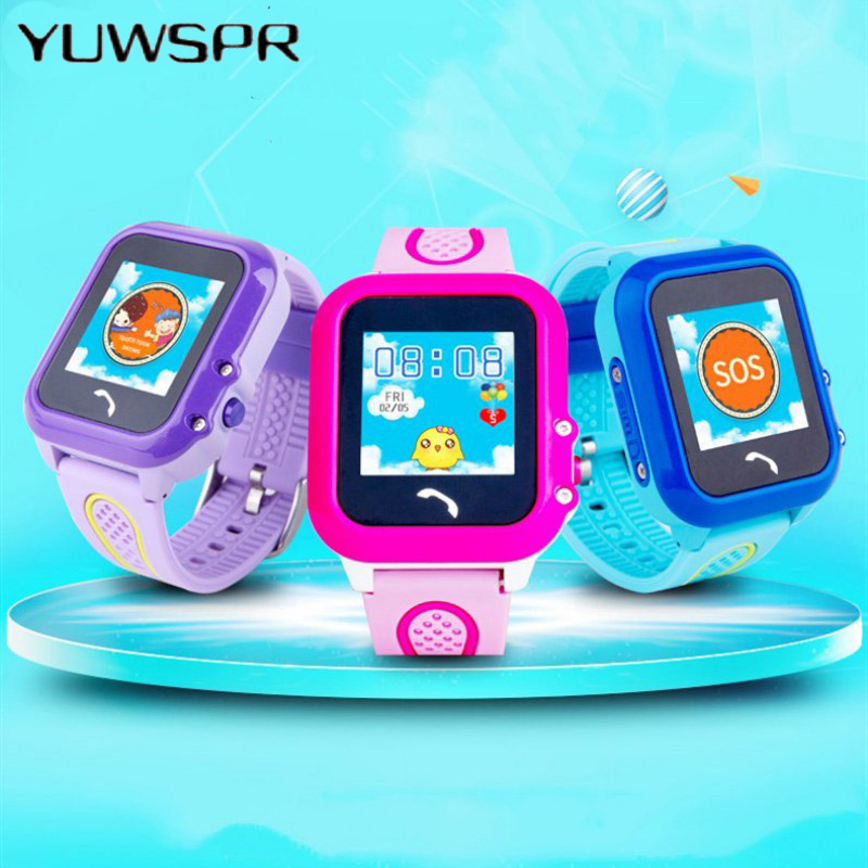 Children Clock Watch Smart-Touch-Screen Tracker Waterproof Kids DF27 Remote-Monitoring