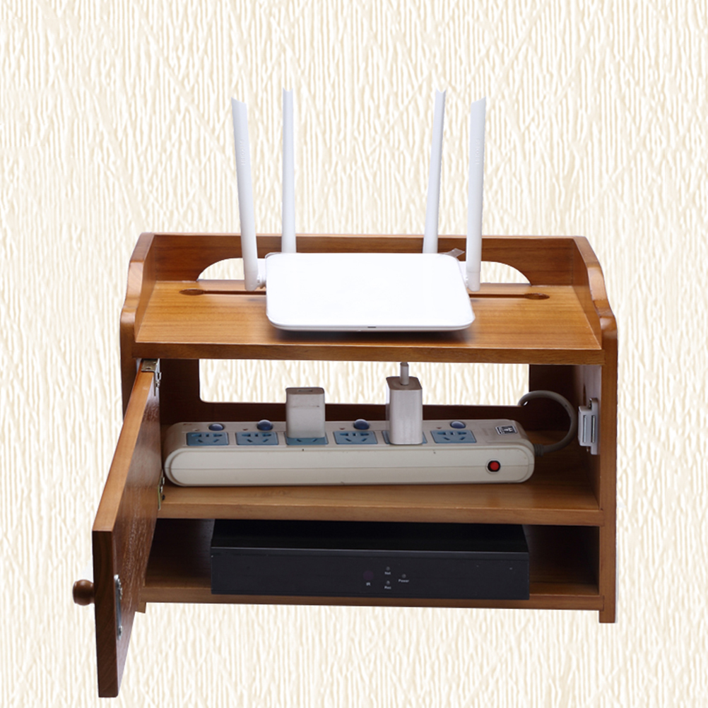Pflichtbewusst 1 Pc Multifunktions Router Lagerung Box Retro Holz Sockel Rack Draht Veranstalter Haushalt Liefert