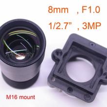 """Звездный светильник F1.0 aparure 8 мм объектив 3MP 1/2. """" формат для датчика изображения IMX327, IMX307, IMX290, IMX291 Модуль платы блока программного управления камеры F1"""