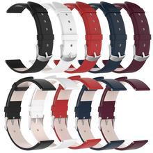 Rondaful 20MM Genuine Leather Replacement Watch Band Straps for Garmin Vivoactive3 Vivomove HR Wrist Belt Bracelet