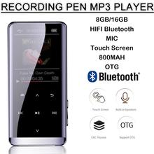 M13 Bluetooth 8GB/16G Ultra Thin MP3 Recorder Mini MP4 Lossless HIFI Music MP5 Walkman Mp6 Player FM Radio Multi-language
