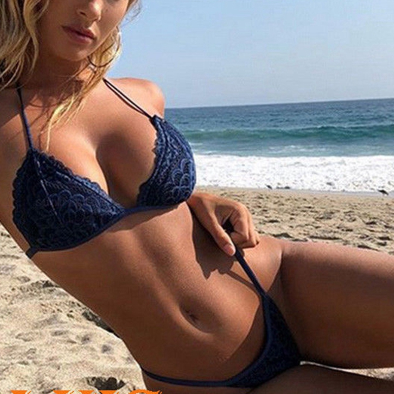 Summer <font><b>Sexy</b></font> Women Push-up Padded Bra <font><b>Bandage</b></font> <font><b>Bikini</b></font> Set Swimsuit e Swimwear Beachwear image