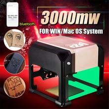 שדרוג Bluetooth מיני 3000MW זהב CNC לייזר חריטת מכונת AC 110 220V DIY חרט שולחן העבודה עץ נתב/חותך/מדפסת