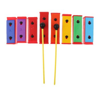 8 Notes Rainbow Xylophone Musical Instrument Eye-hand Coordination Early Learning Educational Toys for Children Toddler Kids