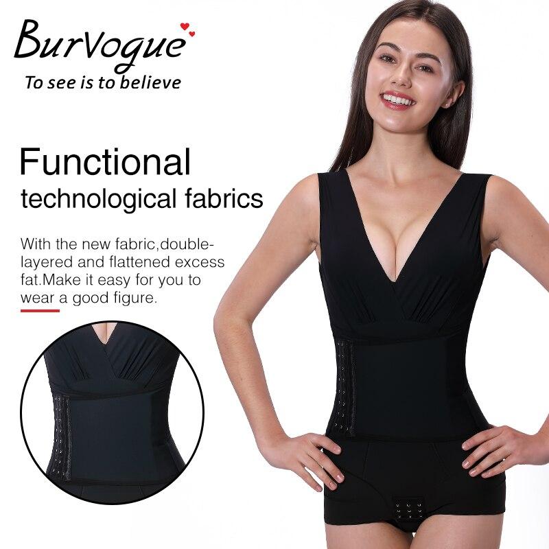 Burvogue Waist Trainer Body Shaper Corset Slimming Underwear Bodysuit Women Butt Lifter Modeling Strap Shapewear Seamless Shaper