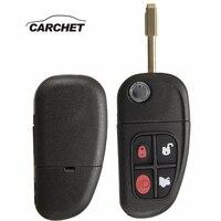 CARCHET 4 Buttons Flip Folding 315/433mhz 4D60 Chip Remote Control Car Key Fob Replacement For Jaguar X Type S Type XJ XK Types