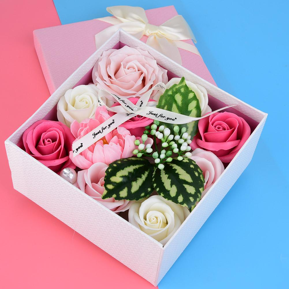 Artificial Rose Soap flower Artificial Flower Box for Birthday Wedding Valentine's Day Mother's Day Gift Handmade