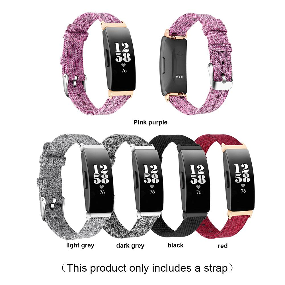 Watch Bands For Fitbit Inspire/Inspire HR Fitness Tracker Classic Canvas Straps With Metal Connector Replacement Wristband For W