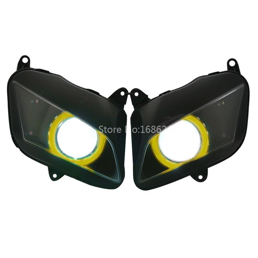 Проектор HID Yollow ангельские глазки Собранный мотоцикл фара Подходит для Honda CBR600RR