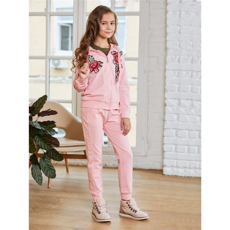 Children's Sets Sweet Berry Set of knitted for girls: sweatshirt, trousers children clothing kid clothes tracksuit girls sports suits autumn clothes long sleeve sweatshirt pants sets for girl black white clothing 9 10 12 14y