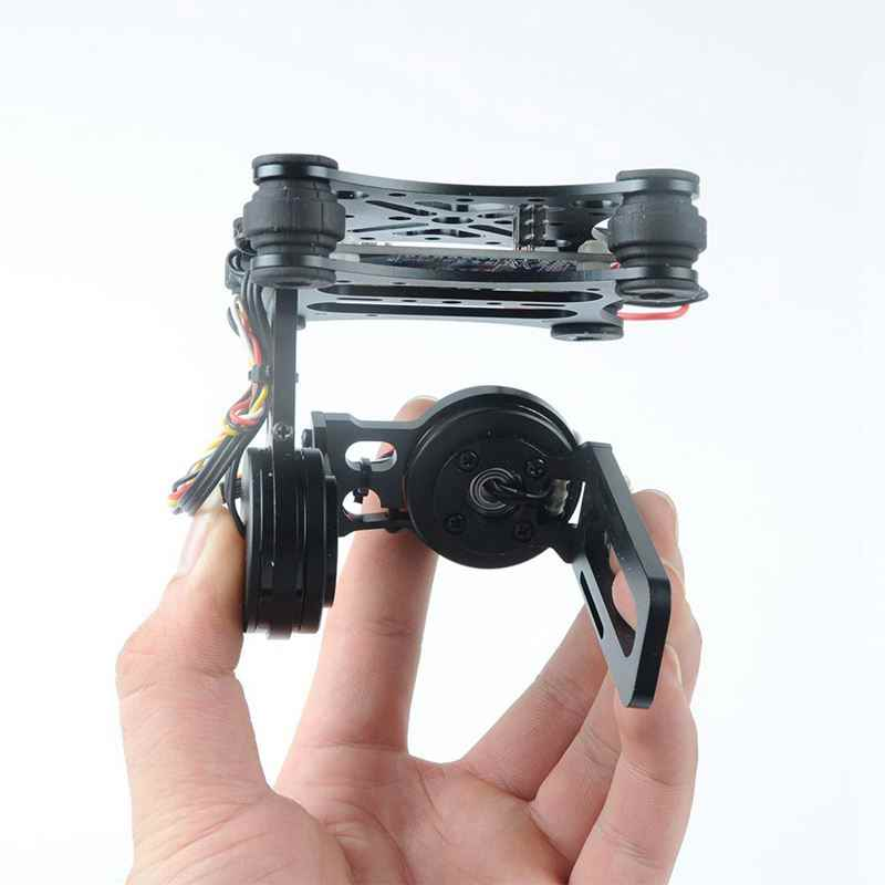 2 ejes 2D cardán de cámara sin escobillas para Gopro SJCAM Xiaomi YI acción de la Cámara Eken F450 F550 S500 FPV Dron multirrotor Quadcopter