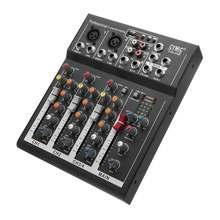 LEORY черный 4 канала аудио смешивание Звука DJ оборудование DJ аудио микшер консоль с USB MP3 Jack Live для караоке KTV речи