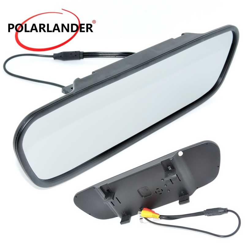 Venda quente 800x480 cor tft monitor de espelho retrovisor do carro lcd 5.0 polegada para a câmera dvd vcr 169 tela dc 12 v
