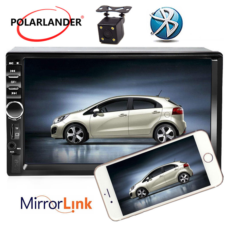 7 Inch Bluetooth Radio Cassette Player Rear Camera 2 Din Mirror Link For Android 7.0 FM Automagnitol LCD Touch Screen Car Audio