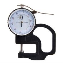 0-10mm 0.01mm Dial Thickness Gauge High Precision Leather Metal Case Tester Flat Micrometer Width Measuring Instrument Tools
