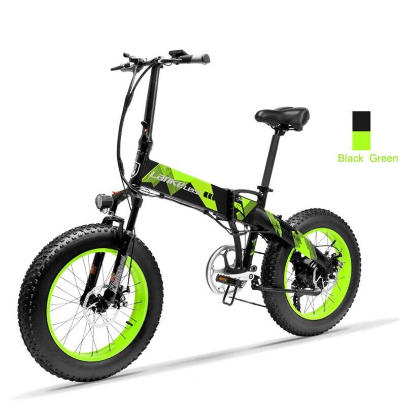 Daibot Pliage trottinette électrique 2 Roues 20 Pouces Graisse E-Vélo de Neige Vélo Électrique 48 V 500 W Batterie Cachée vélo électrique Vélo