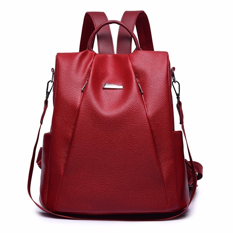2019 Women Leather Backpack For Girls School Bags Sac A Dos Female Backpack High Quality Travel Shoulder Bag Bagpack Ladies New