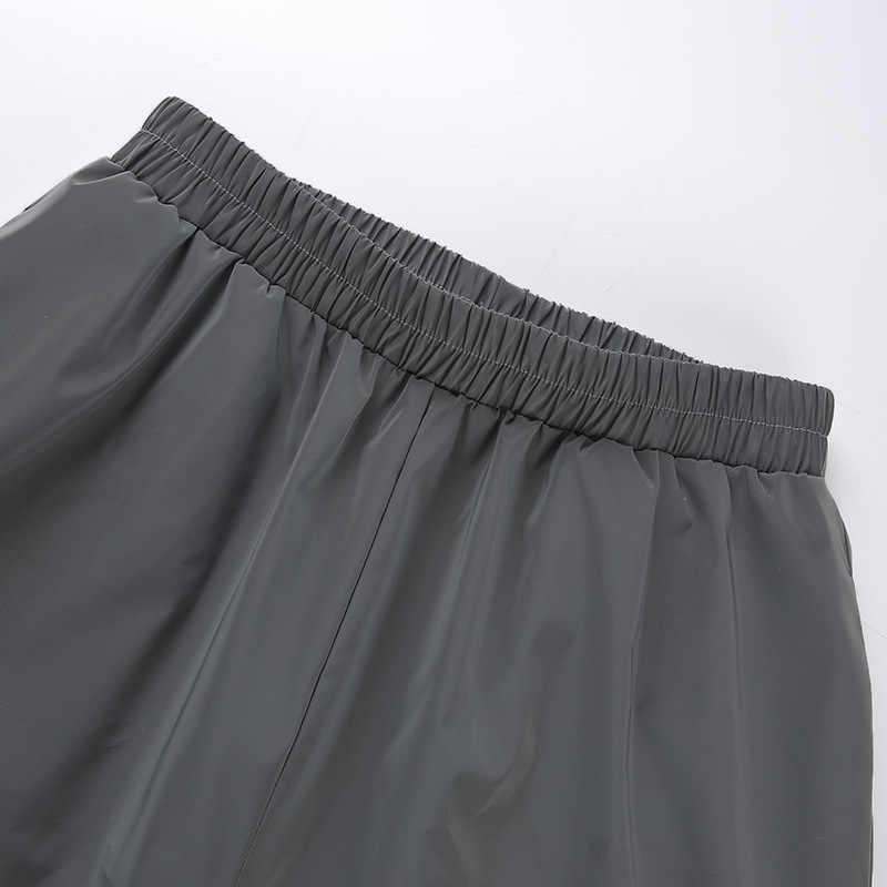 Lari Reflektif Celana Pendek Wanita Celana Olahraga Gemerlapan Celana Glitter Wanita Trackpants Satin Pinggang Tinggi Pantacourt Bersinar