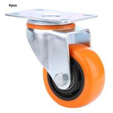 wheel chair 4pcs PVC Material Orange 7.5cm/3in Caster Wheels 360 degree Universal Swivel 3-inch Casters Set castor wheels цена