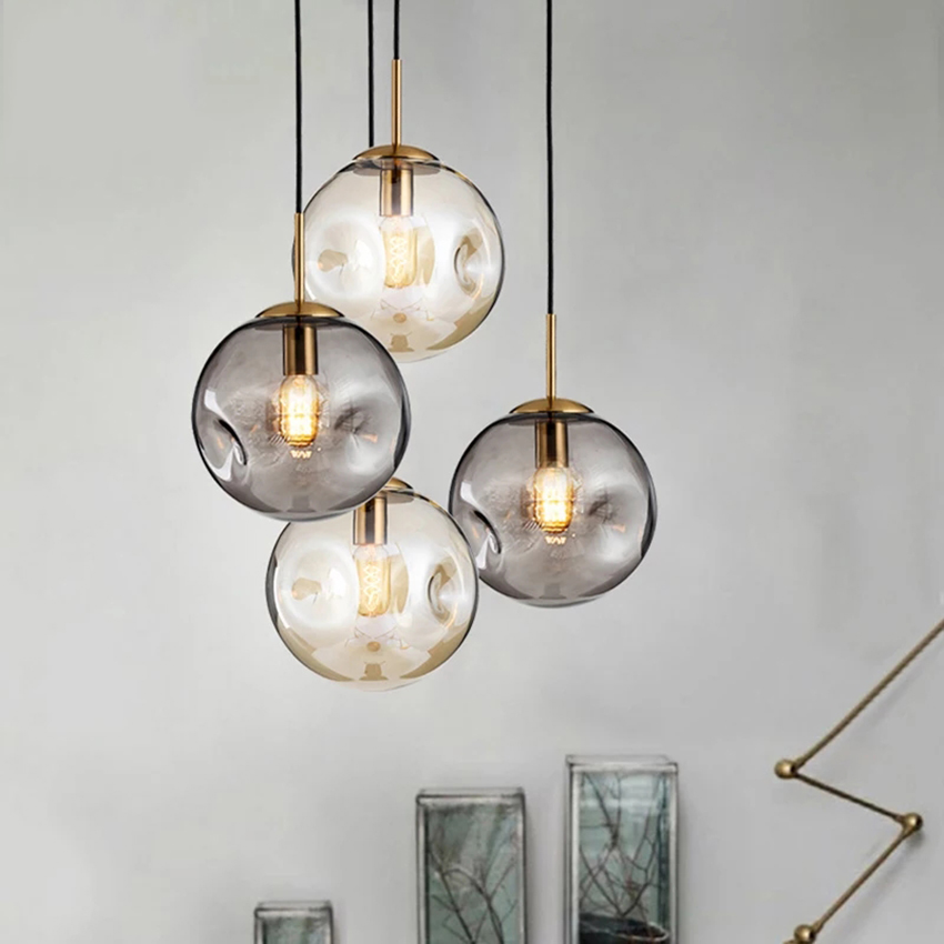 Modern Duplex Led Glass Hanging Lamp Lighting Bedside Living Room Pendant Lights Restaurant Light Fixtures Luminaria Suspension