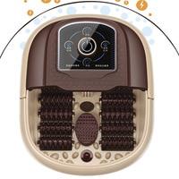 Health Foot Tub Automatic Heating Massage Foot Bath 12 Wheel Massage Bucket Portable Handle Feet SPA Barrel feet massaging basin