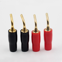5pairs/10pcs Banana Wire Cable Pin Plug Connector Red+Black 2mm Speaker Connectors For Wire Cable Hifi