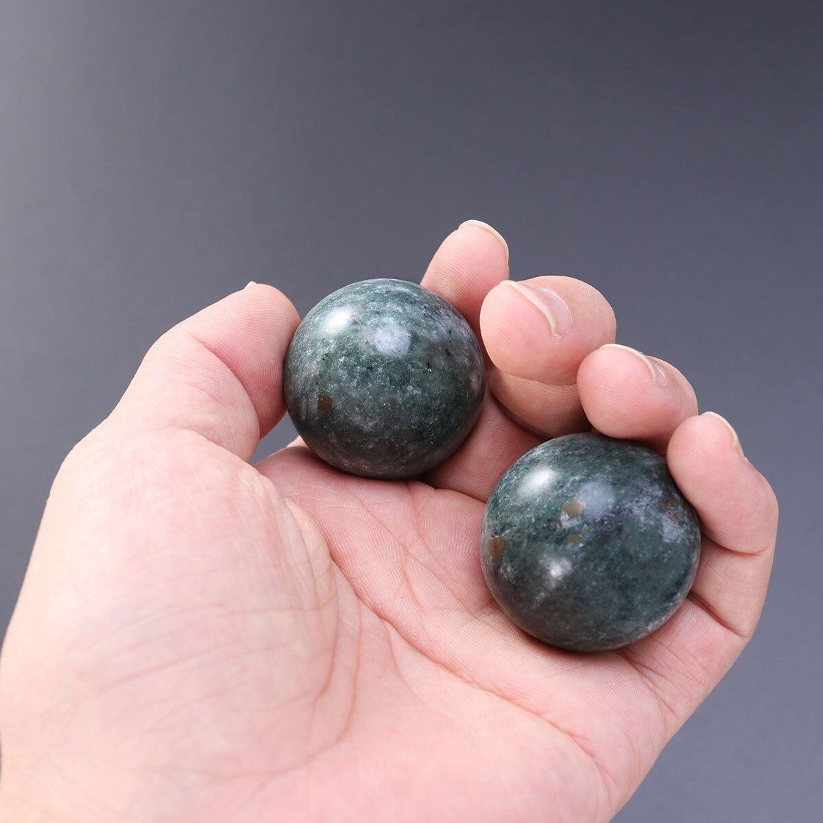 2 Pcs Massage Beautiful Ball Jade Health Care Ball Massage Jade Ball Exercise Jade Ball For Home Travel Outdoor
