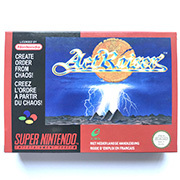 ActRaiser game cartridge with box for pal console