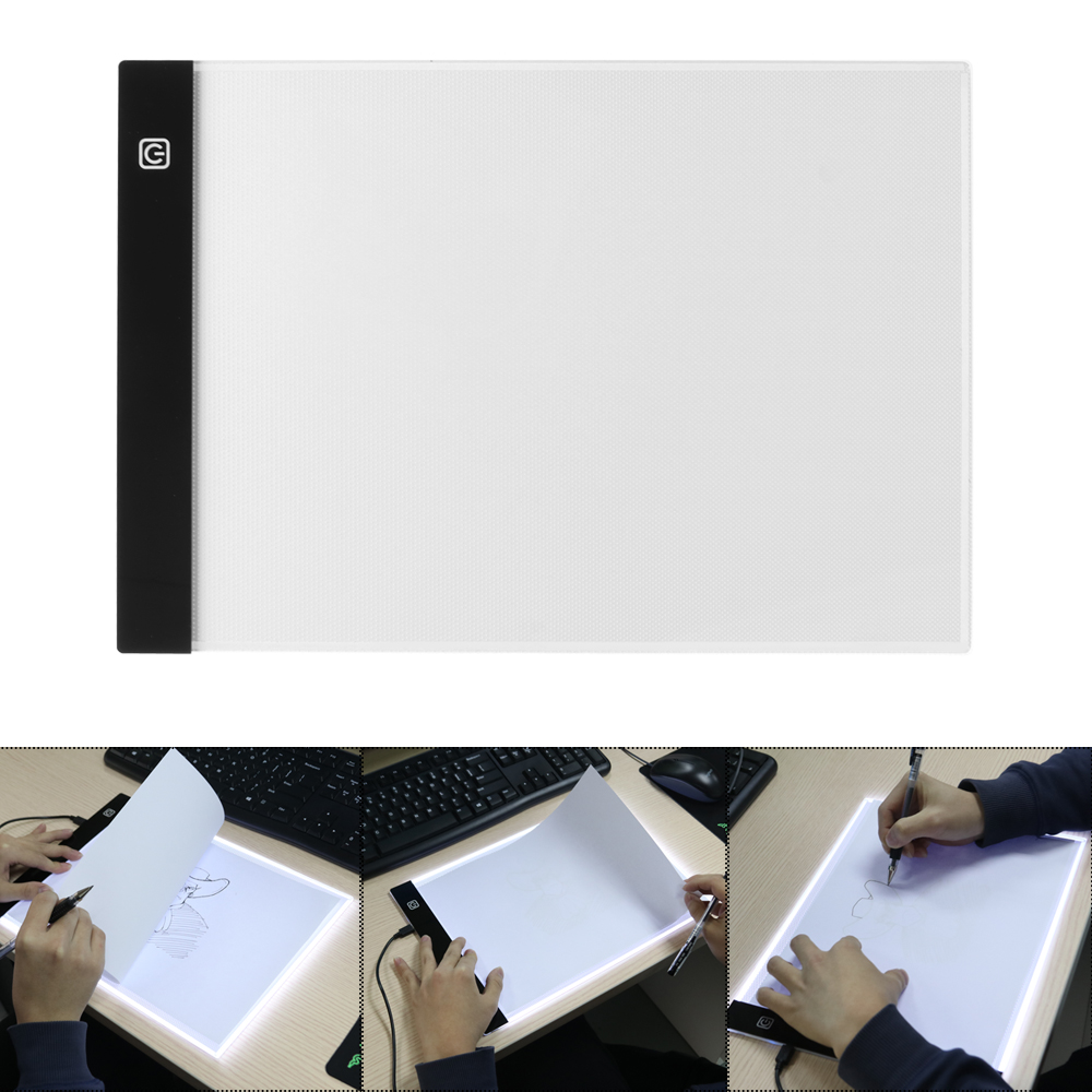 Diligent Digital Drawing Graphic Tablet A4 Led Light Box Tracing Copy Board Painting Writing Table Three-level Stepless Dimming Factory Direct Selling Price Diamond Painting Cross Stitch Needle Arts & Crafts