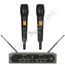 Pro SKM9000 2 цвета шампанского золото или 2 черный беспроводной ручной микрофон Система сценическое пение гарнитура LavalierMic система